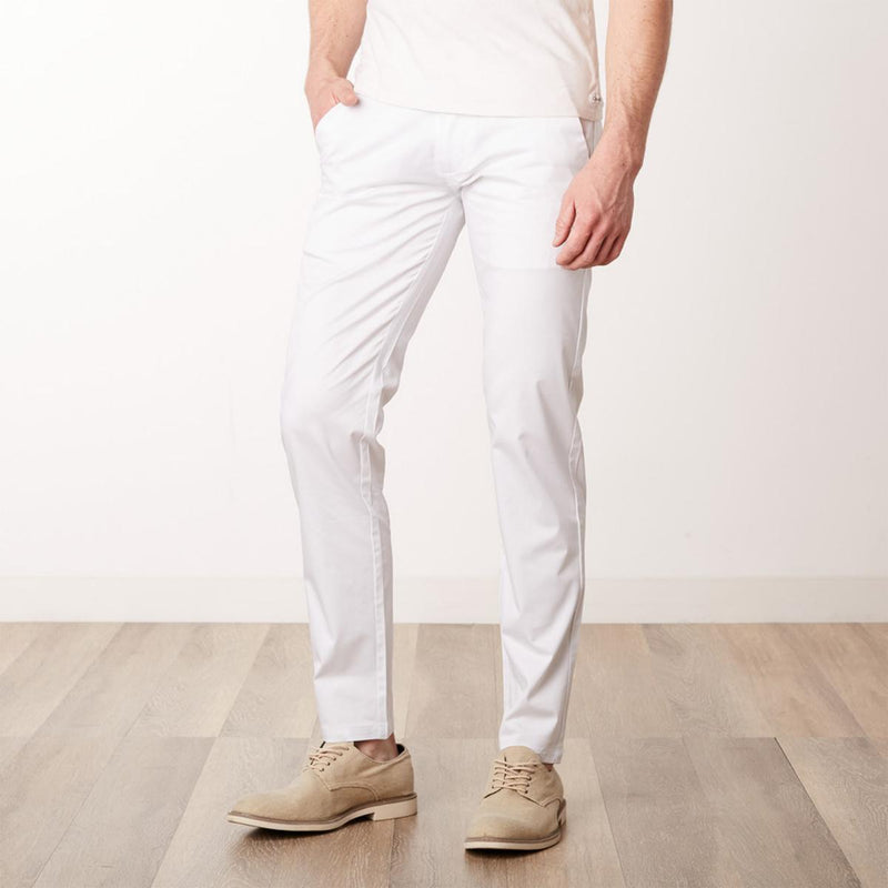 Solid Lightweight Trousers- White