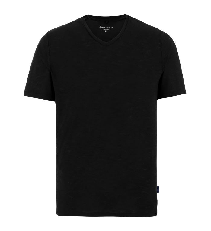 Performance V-Neck T-Shirt- Black