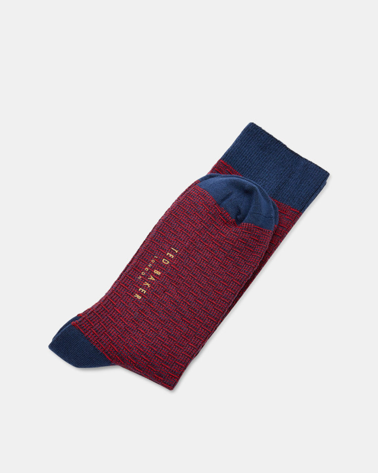 Patterned Socks- Red