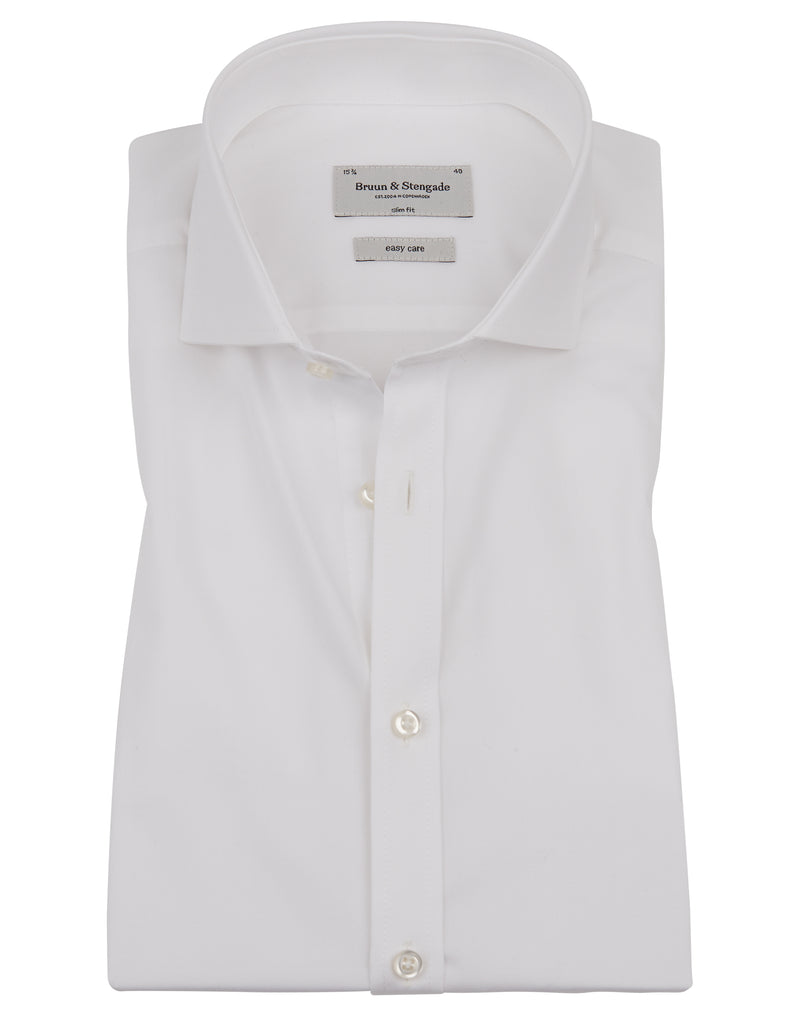 Slim Fit | Solid Dress Shirt- White