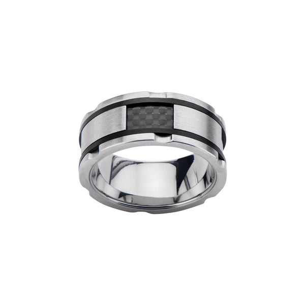 Carbon Fiber Inlaid Ring