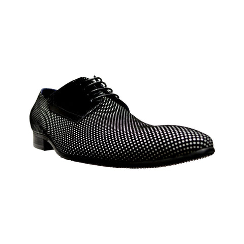 Black & White Lace Up Shoe