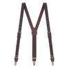 Brown & Brass Leather Suspenders