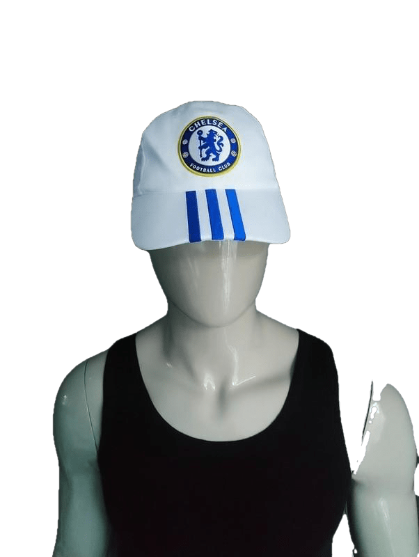 Adidas Chelsea pet. Blauw Wit gekleurd. One Size fits all - ecogents