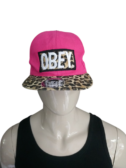 Obey pet. Roze / Bruin panterprint. One Size fits all