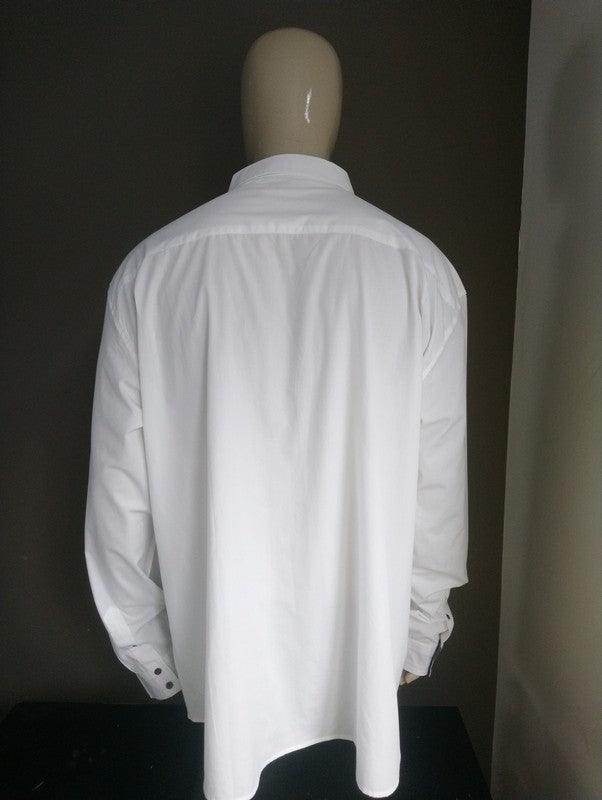 Atlas for Men overhemd. Wit met applicaties. Maat 5XL