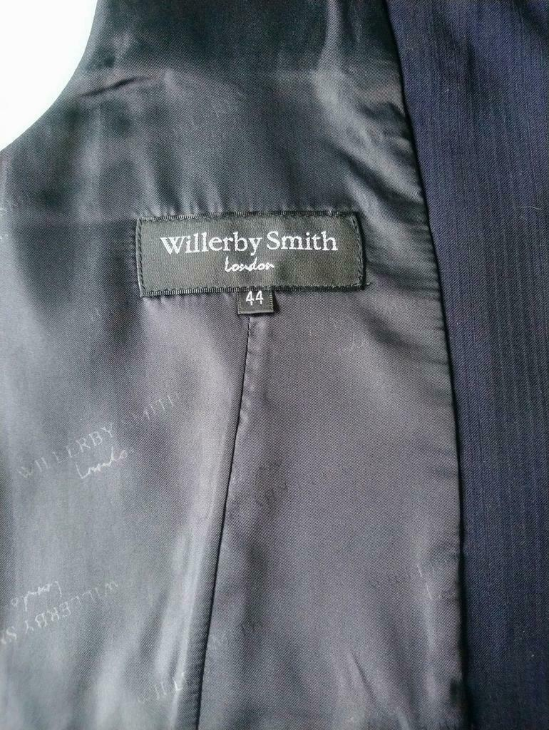 Willerby Smith london gilet. Donker Blauw gestreept. Maat XL