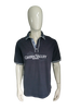 Human Nature polo. Donker Blauw Wit. Maat L.
