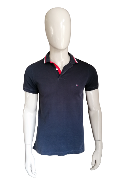 Tommy Hilfiger polo. Donker Blauw. Maat S. Slim Fit