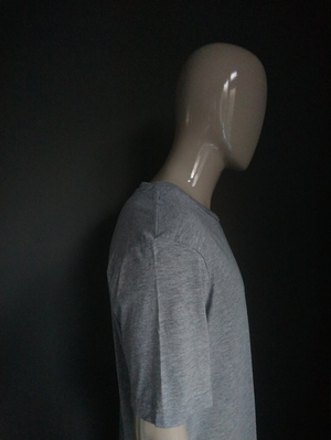 H&M Divided Long Shirt. Grijs gemêleerd. Maat XL.