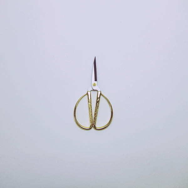 Brass wide decorative handled garden scissors