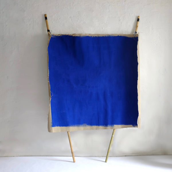 Klien blue pained hessian