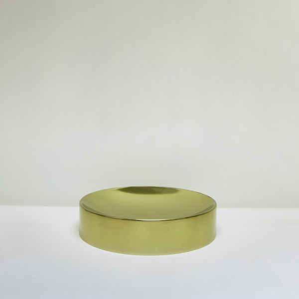 Shallow polished gold dish