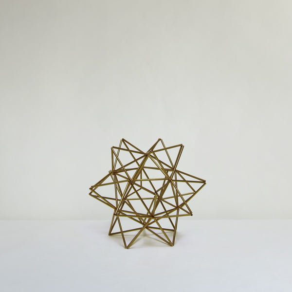 Brass wire sculpture