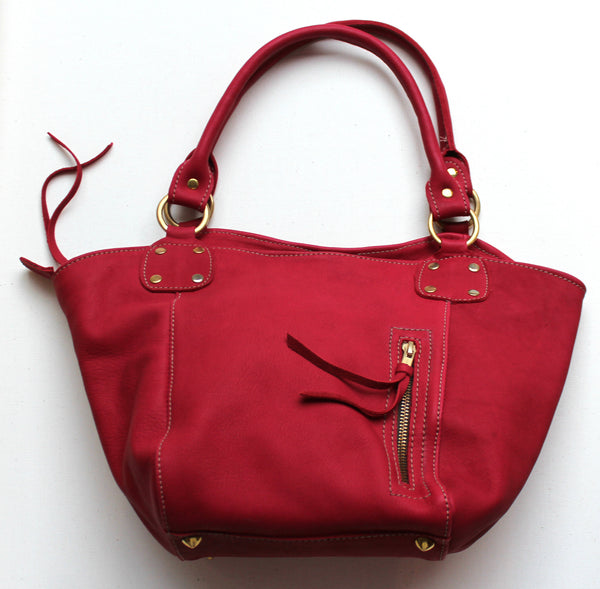 TOTE BUCKET BAG MINI - in leather