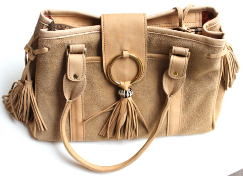 CLASSIC BAG - in suede & leather