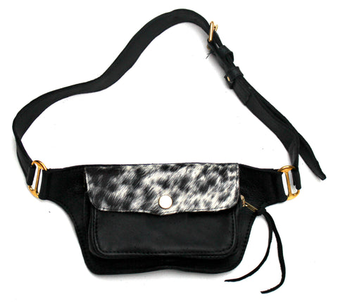 BUM BAG - in cowfur & leather