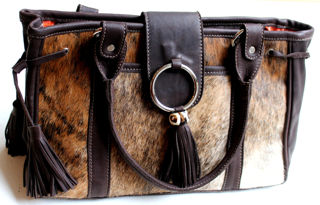 CLASSIC BAG - in cowfur & leather