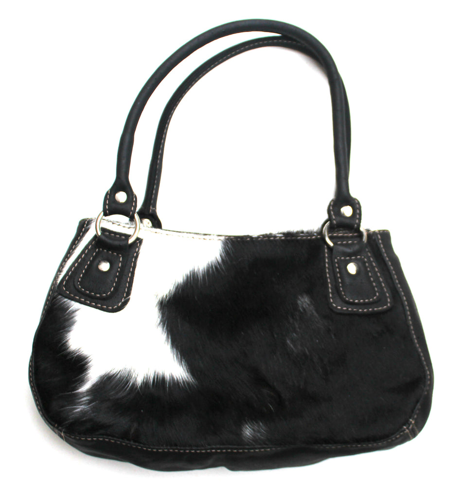 FIDA MINI HANDBAG - in cowfur & leather