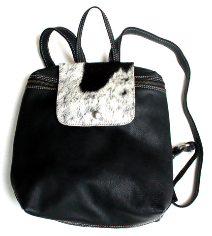RUCKSACK - in cow fur & leather