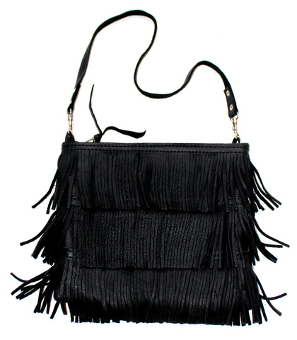 FRINGE BAG - in suede or leather