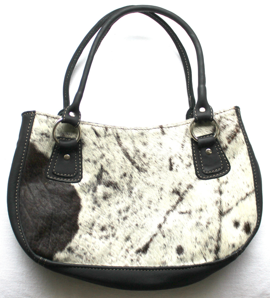 FIDA HANDBAG - in cowfur & leather