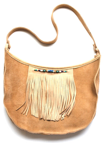 GROOVY MOON BAG - in suede & leather