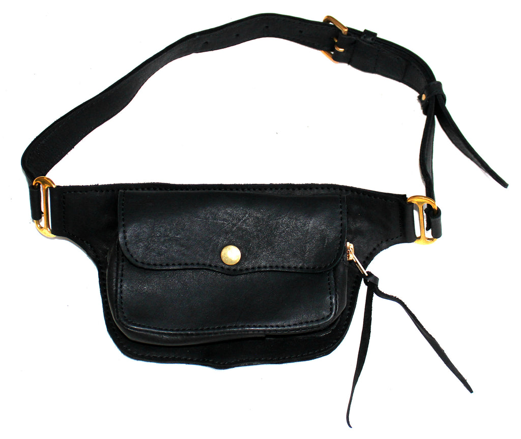 BUM BAG - in leather
