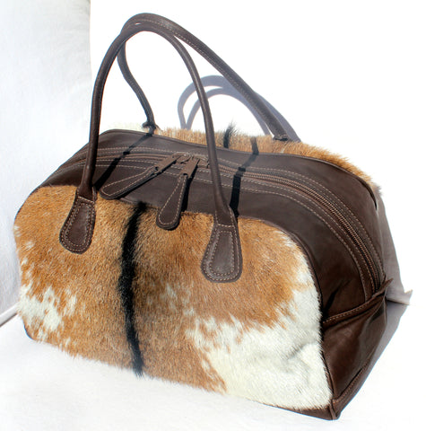 DUFFLE LUXURY OVERNIGHTER BAG in Goat Fur