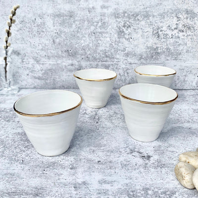 Gold and White Cocktail Cups