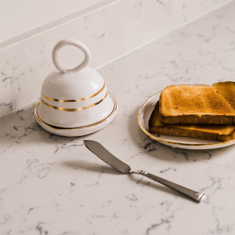 Butter Dish and Toast