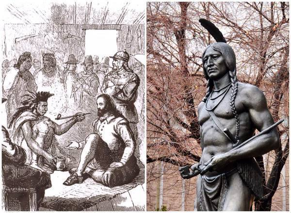 THROWBACK <br> WHO IS MASSASOIT? <br> HOW IS HE RELATED TO LUNA?
