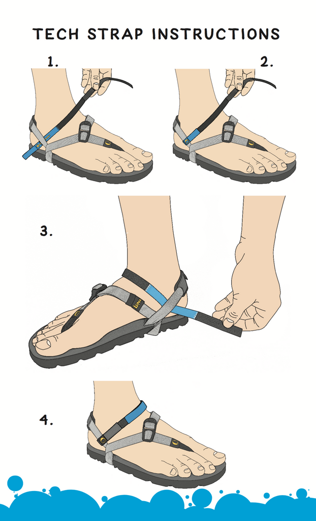 LUNA Sandals - Performance Laces 2.0 - Adjustment Instructions