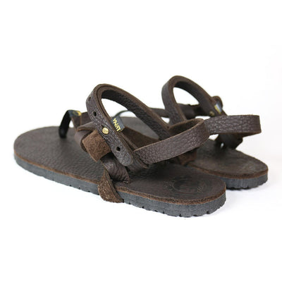 LUNA Sandals - Chocolate Mono