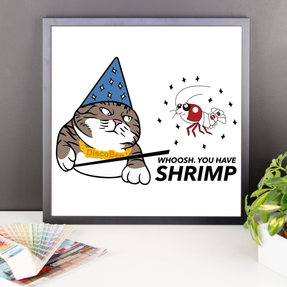 Whoosh you have Shrimp! Framed Poster