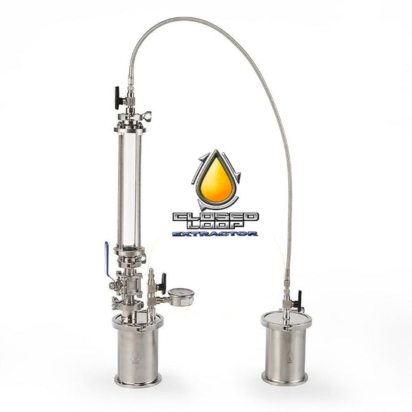 120G Mini XL Top Fill Glass Closed Loop Extractor,  Pressurized Extractors BHO Extractor kit. Extractor stainless steel 304.