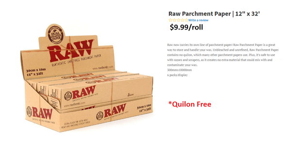 Raw Natural Parchment Paper Rolls