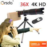 4K HD 36X Optical Zoom Camera Lens for mobile cell phones