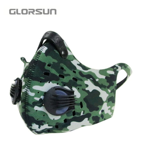Face Mask With Filter Activated Carbon Anti-Pollution Bike Half Face mouth Mask