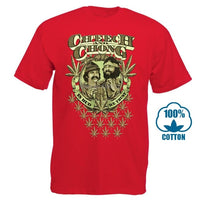 Funny T Shirt Men Novelty Women Tshirt Cheech & Chong In Weed We Trust T Shirt 012525