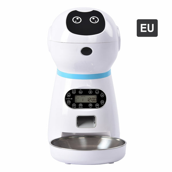 robotic pet food dispenser for cats and dogs