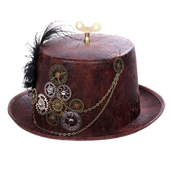 RED Steam Punk Style Hat