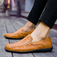 Soft Leather Loafer Moccasins