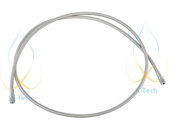 "2.0m (78 "") Stainless steel 304 wire braided PTFE hose  for closed loop BHO extractor"