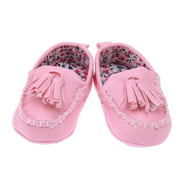 Handmade Leather Moccasin Baby Shoes