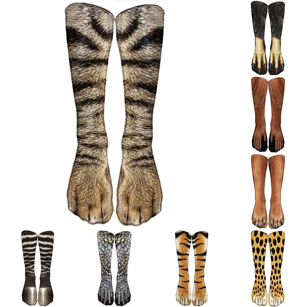 Animal Print Casual High Ankle Socks