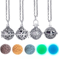 Glow in the Dark Lava Stone Aromatherapy  Diffuser Necklace