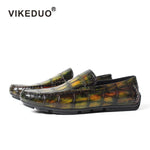 Handmade Luxury Alligator Skin moccasin shoes
