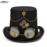 Retro Costume Steam Punk Top Hat with Gears
