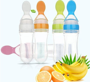 Baby Silicone Bottle Spoon Feeder